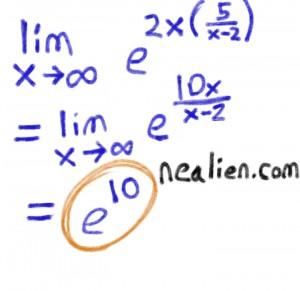 e 10 limit problem 2