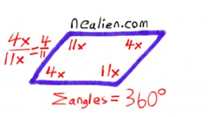 parallelogram angles