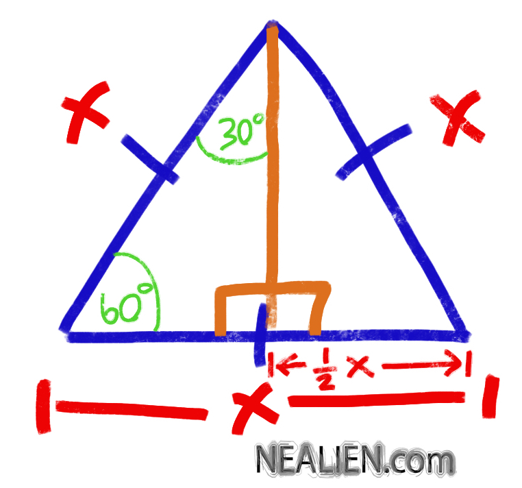 """How to find the height of an equilateral triangle?"""
