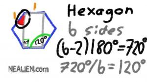 hexagon angles