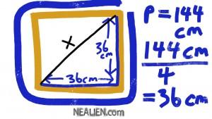square diagonal 1
