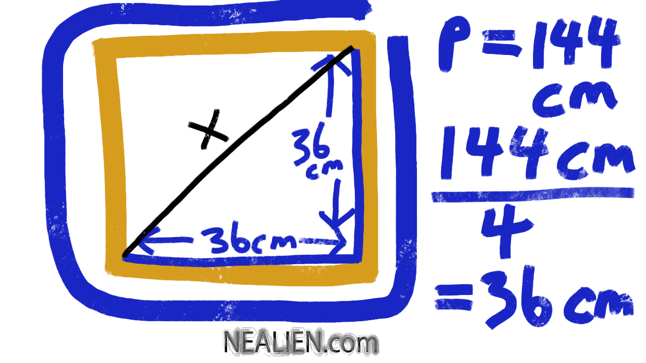 How to find the length of a square given the perimeter?