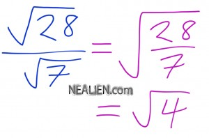 square root 28 over square root 7 faster