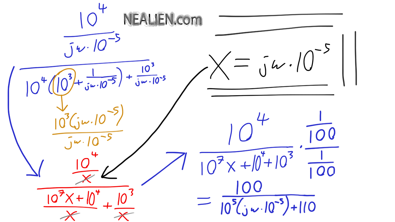 Circuits Complex Analysis Equation Simplification