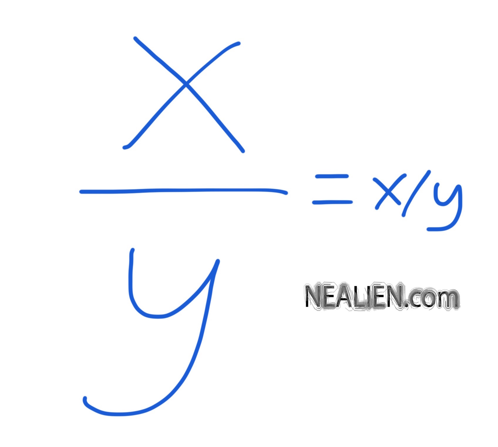 """What is the meaning of ""x over y"" in mathematics?  Does it mean x /y or y/x?"""