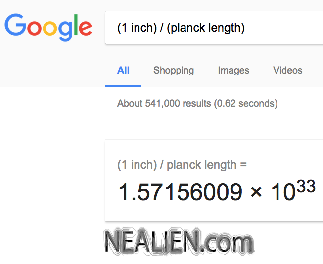 """How many Planck lengths are in an inch?"""