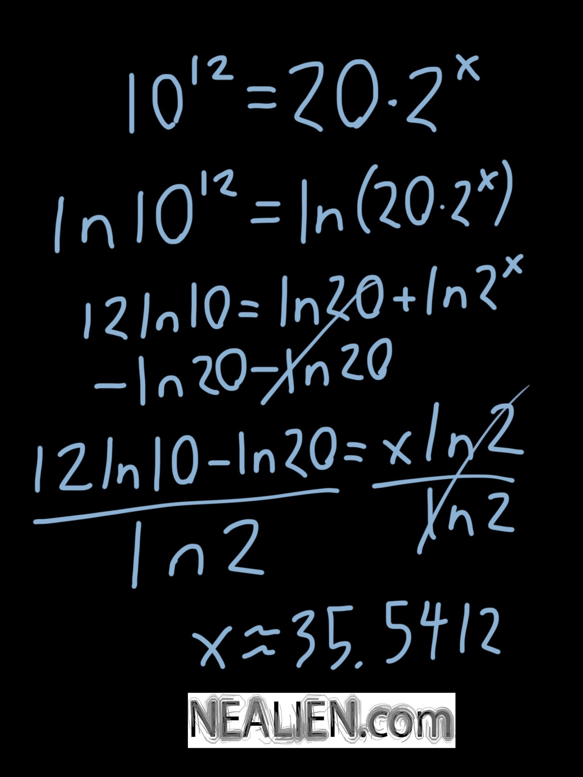 How to use logarithms to solve a problem with a variable exponent